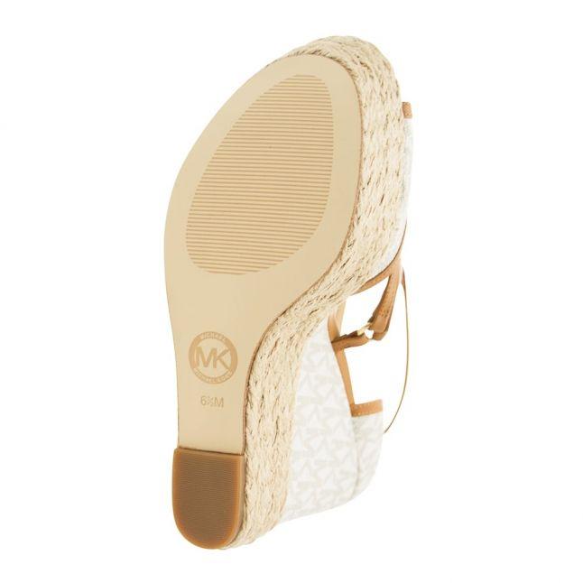 Womens Vanilla & Acorn Terri Logo Wedges