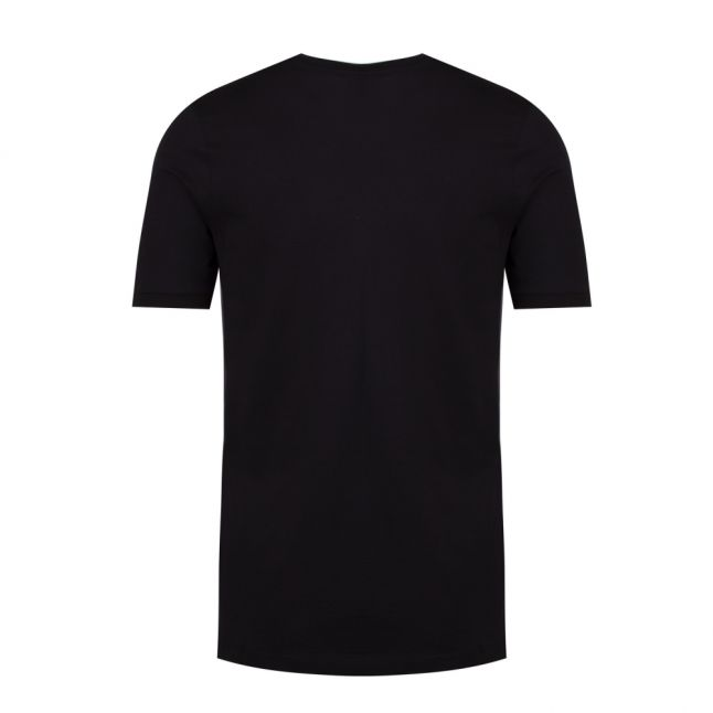 Mens Black Tri Colour Logo Custom Fit S/s T Shirt