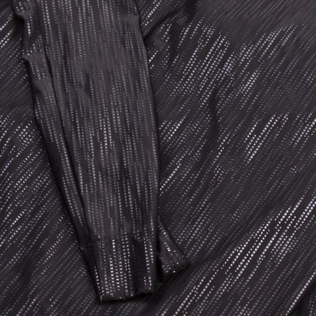 Angolmania Womens Black Fancy Jersey Fold Dress