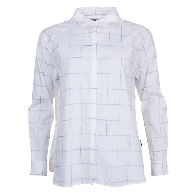 Heritage Womens White Abstract Check L/s Shirt