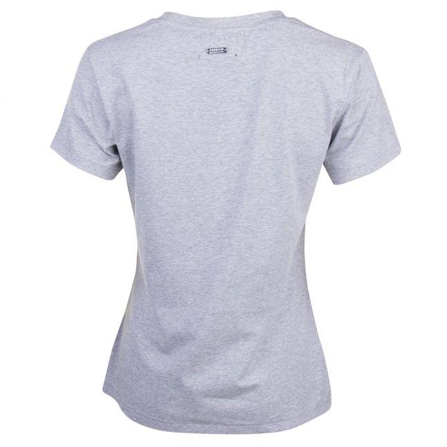 Womens Light Grey Marl Riser S/s Tee Shirt