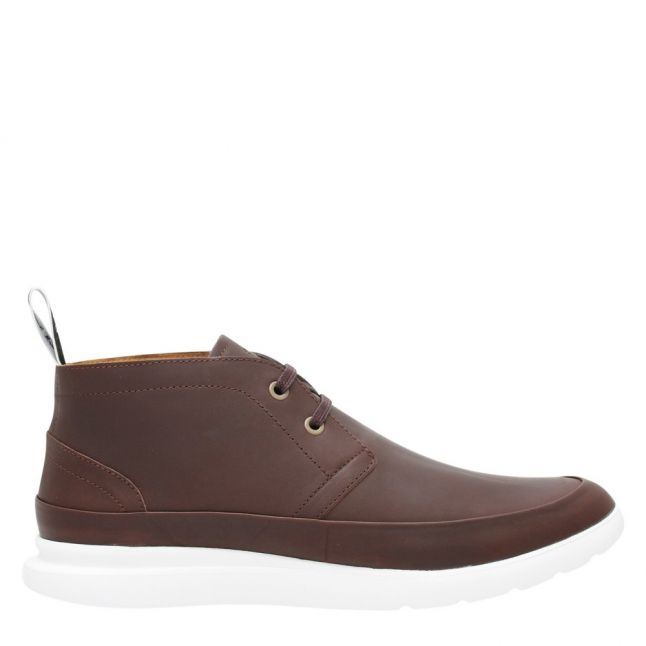 Mens Dark Brown Leon Leather Ankle Boots