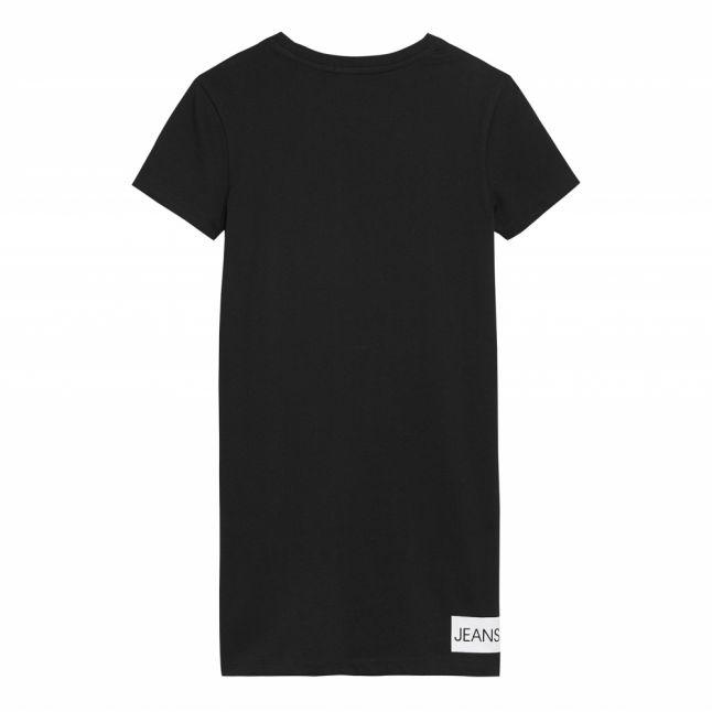 Girls Black Institutional Logo T Shirt Dress