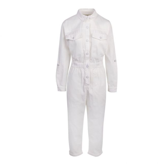 Womens Cream Perrla Cotton Jumpsuit