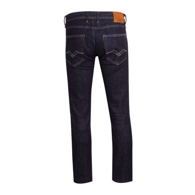 Mens Dark Blue Grover Straight Fit Jeans