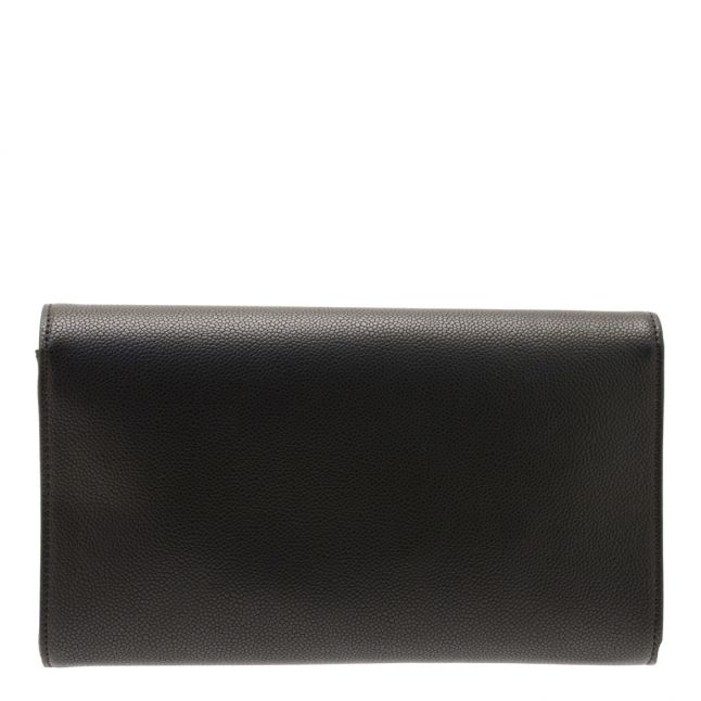 Womens Black Grain Divina Tassel Clutch Bag