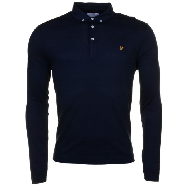 Mens True Navy Stapleton L/s Polo Shirt