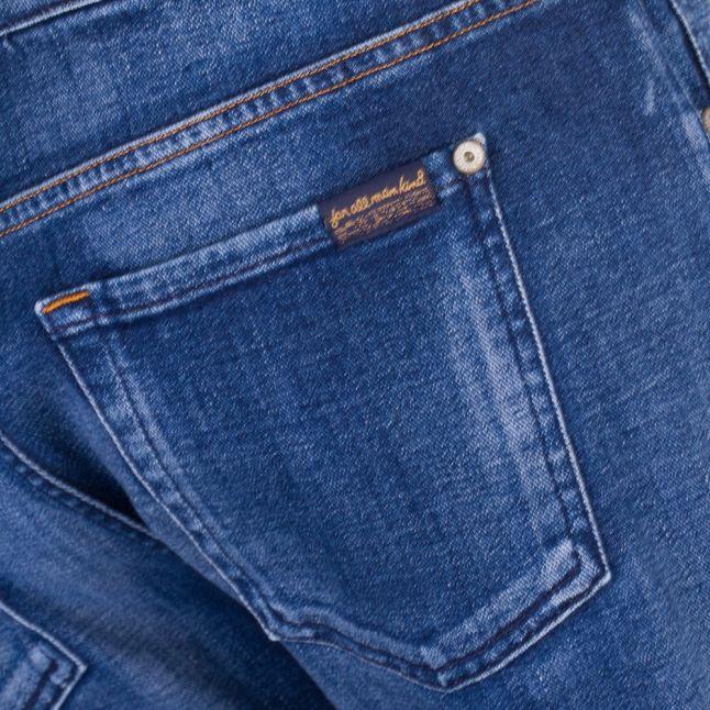 Womens Left Hand Dark Relaxed Skinny Jeans