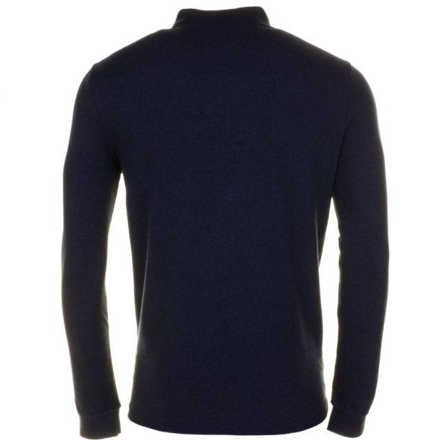 Mens Dark Indigo Pocket Detail L/s Polo Shirt