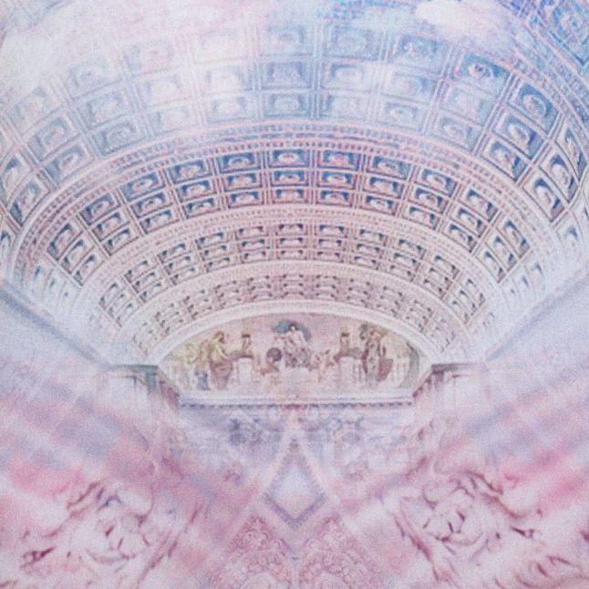 Womens Lilac Franxi Dreamscape Printed Top
