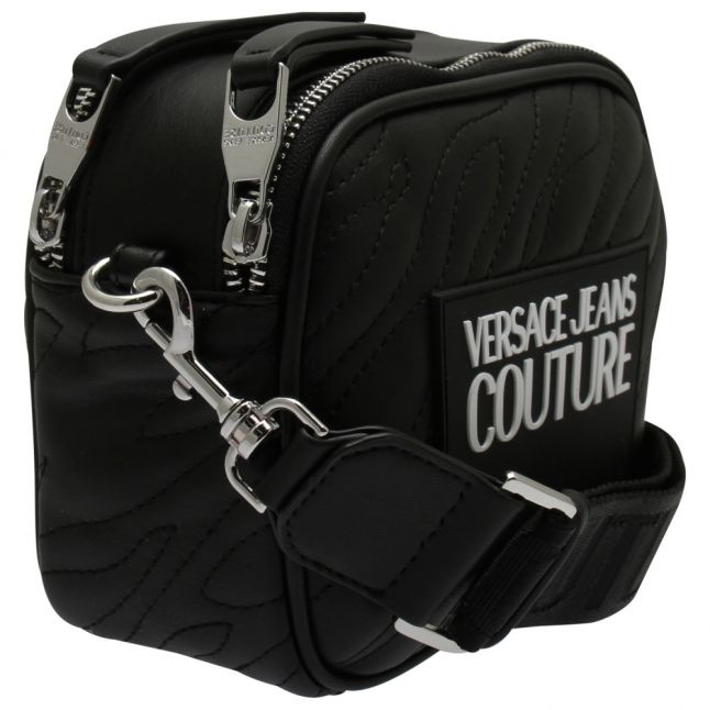 Womens Black Animal Quilted Camera Bag
