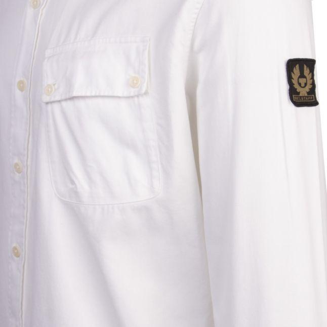 Mens White Pitch Garment Dye L/s Shirt