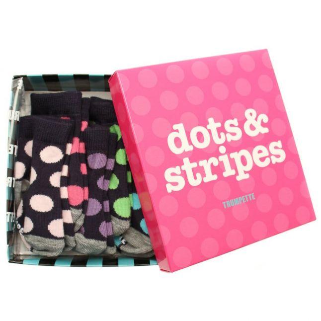 Baby Multi Dots & Stripes Socks Set