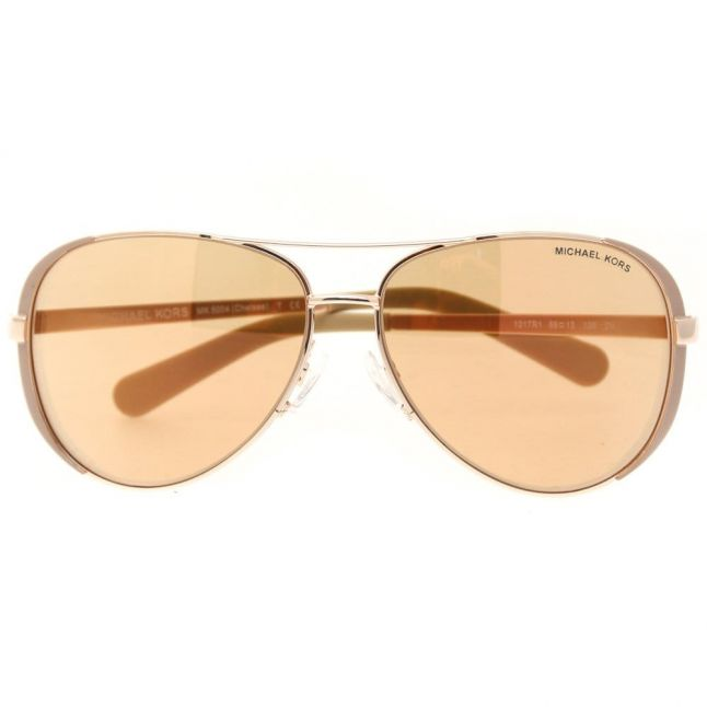Womens Rose Gold Flash Chelsea Sunglasses