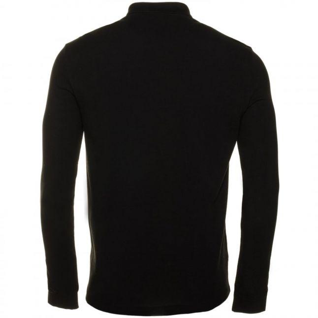 Mens Black Classic L/s Polo Shirt