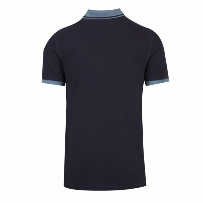 Casual Mens Dark Blue Prim Tipped S/s Polo Shirt