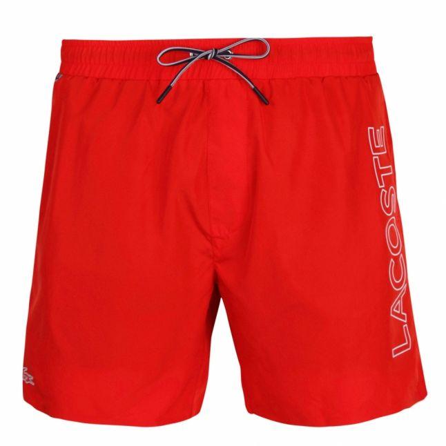 Mens Corrida Red Side Logo Swim Shorts