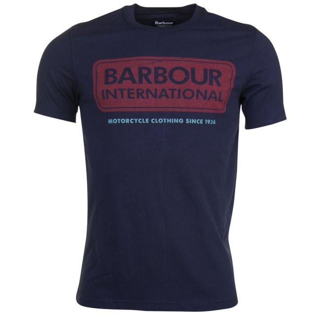 Mens Navy International Logo S/s Tee Shirt