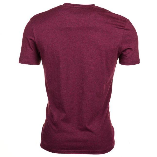 Mens Claret Marl Crew S/s Tee Shirt