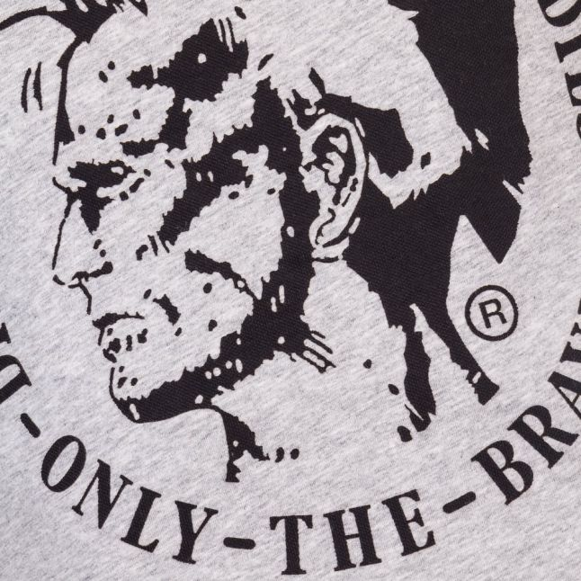 Mens Grey T-Diego-Fo Mohawk S/s Tee shirt