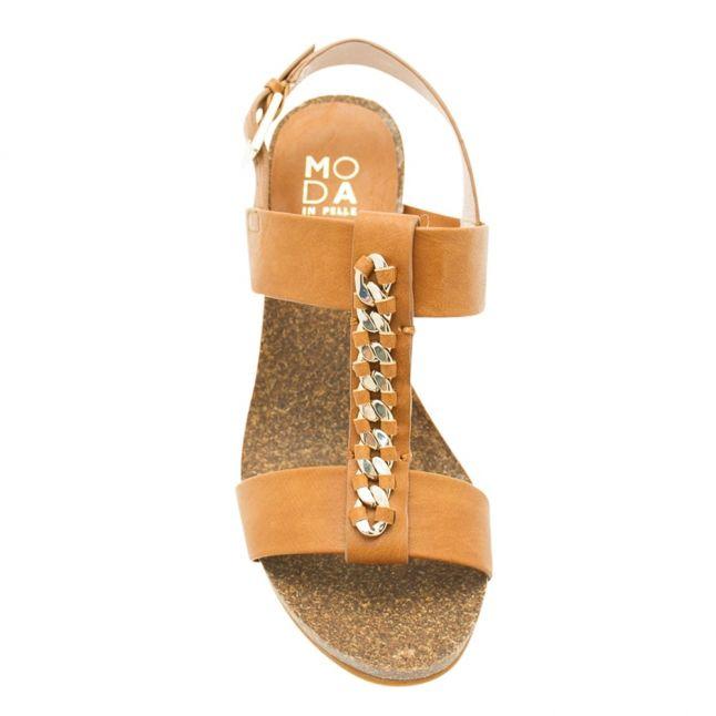 Womens Tan Palba Wedge Sandal