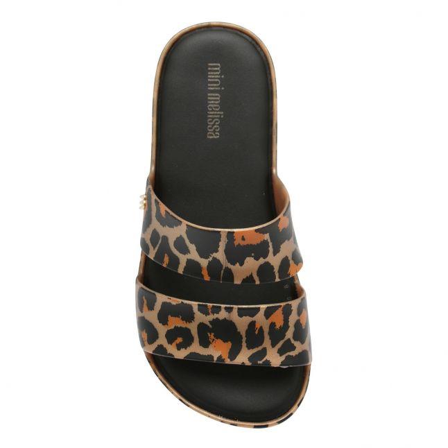 Kids Leopard Print Colour Pop Slides (12-3)
