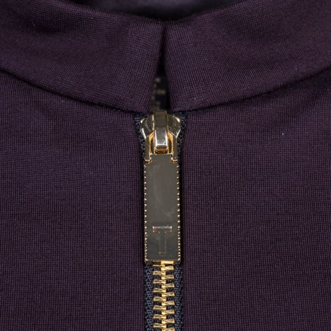 Womens Black Persis Antique Stripe Zip Front Dress