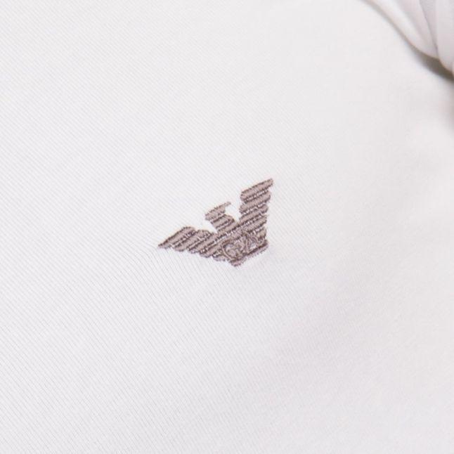 Mens White Shiny Logo Tee Shirt