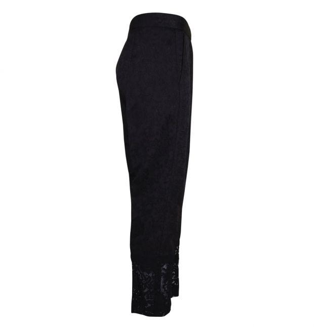 Womens Black Francisco Jacquard Trousers
