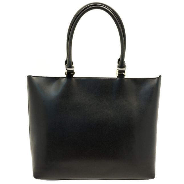 Womens Black Stitch Patterned Shopper Bag
