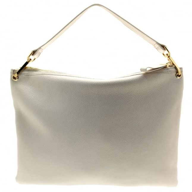Womens Gold Ellie Leather Striped Shoulder Bag