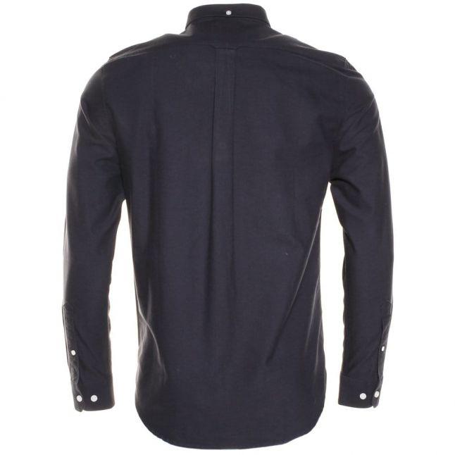 Mens Navy Brewer Oxford Slim Fit L/s Shirt