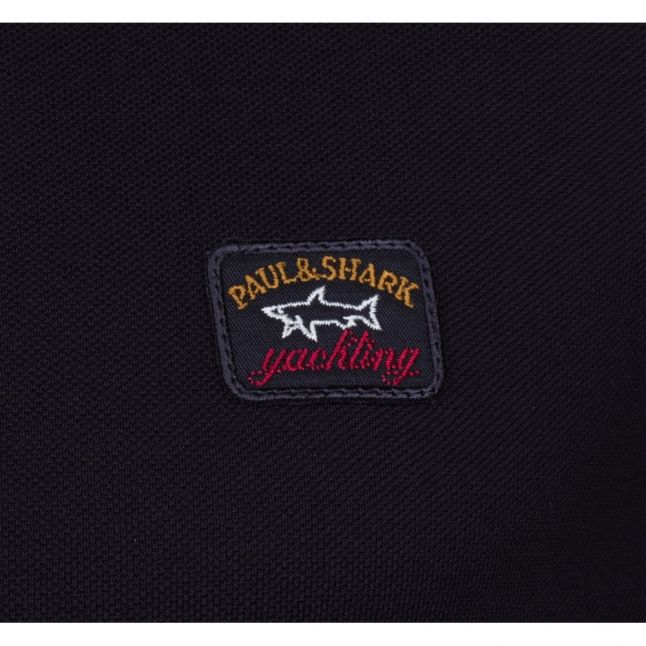 Paul & Shark Mens Black Shark Fit Basic S/s Polo Shirt