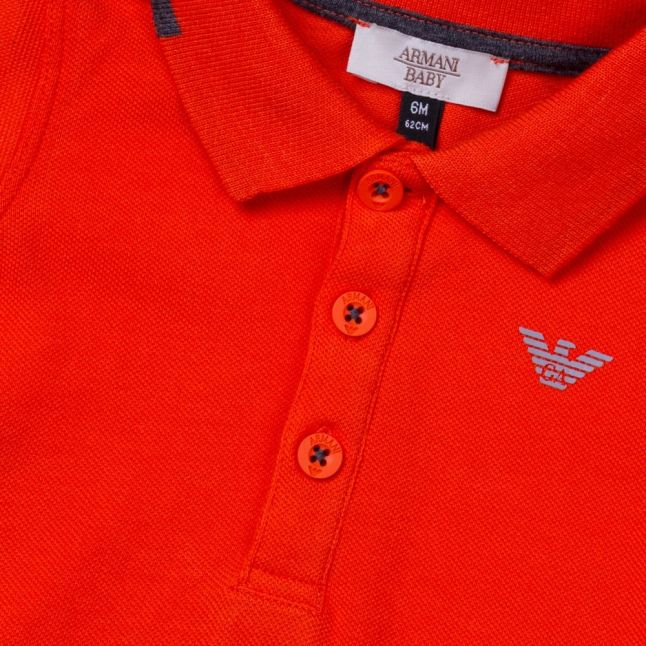 Baby Orange Small Logo S/s Polo Shirt