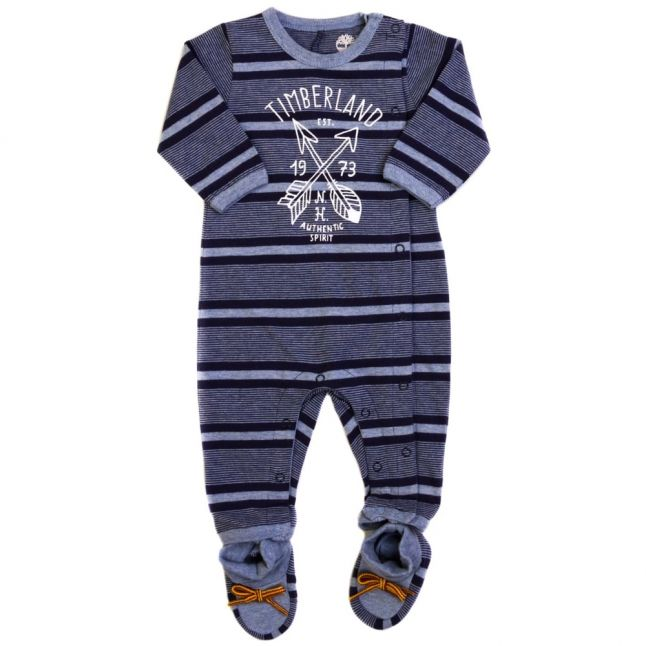 Baby Blue Striped Romper