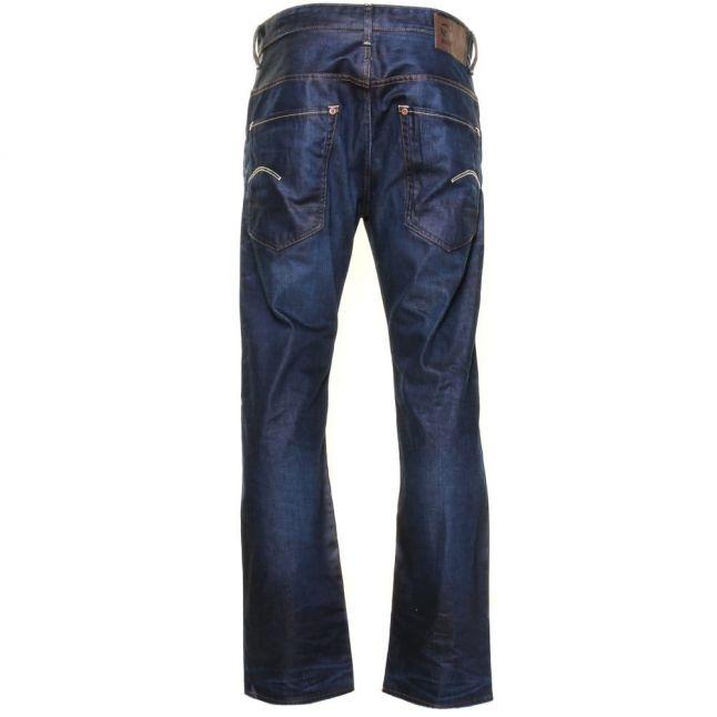 Mens Dark Aged Wash Radar Loose Fit Jeans