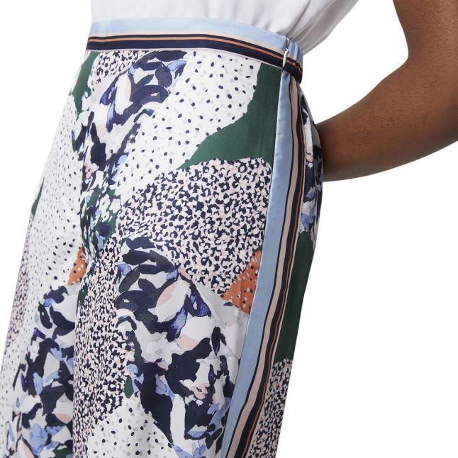 Womens Navy Multi Asha Mix Drape Culottes