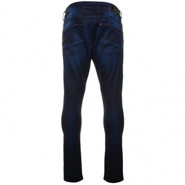 Mens Dark Aged Wash Revend Super Slim Fit Jeans