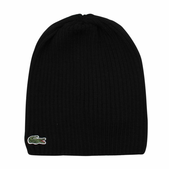 Mens Black Knitted Hat