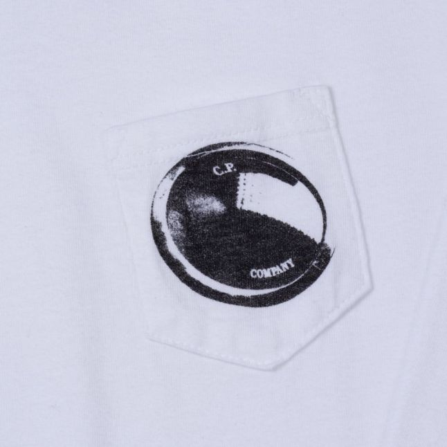Boys White Portal Pocket L/s Tee Shirt