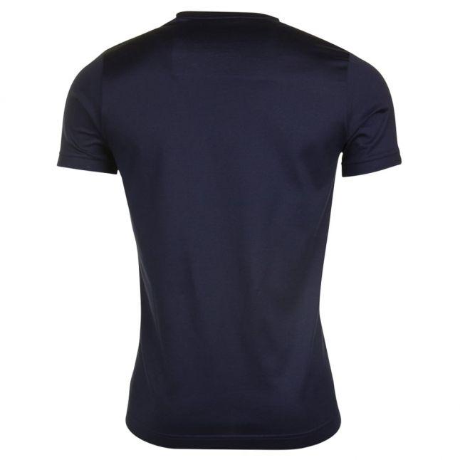 Paul & Shark Mens Tri Colour Logo Shark Fit S/s T Shirt