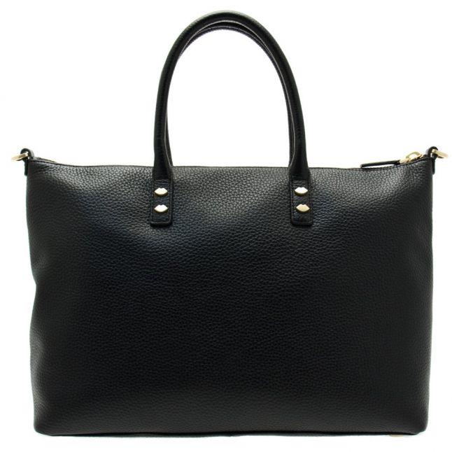 Womens Black Frances Leather Medium Tote Bag