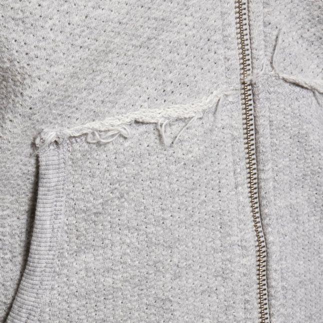 Mens Grey S-Cuthood Zip Sweat Top