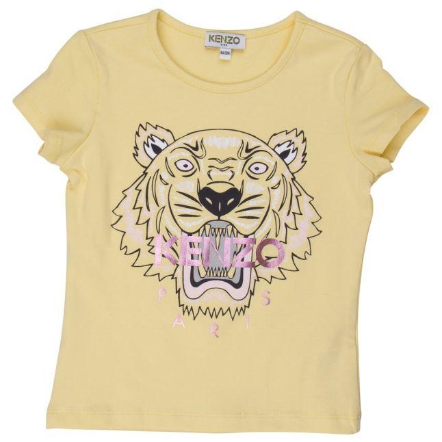 Girls Yellow Tiger 1 S/s Tee Shirt