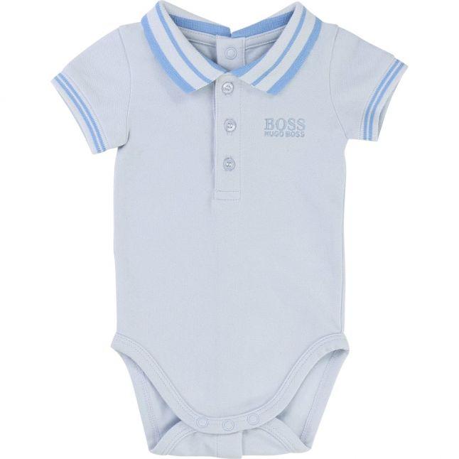 Baby Pale Blue Branded Bodysuit