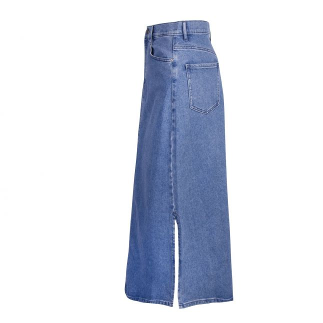 Womens Medium Blue Denim A-Line Skirt