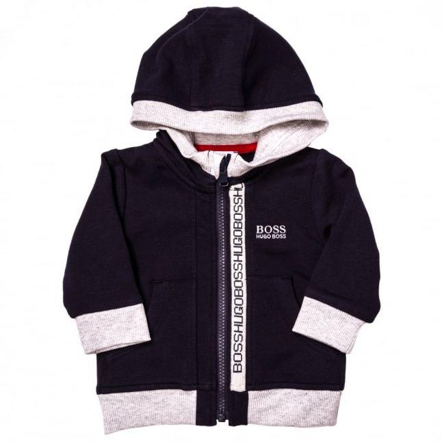 Baby Navy Hooded Sweat Top