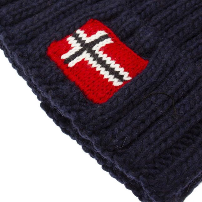 Kids Dark Blue Marine Semiury 4 Bobble Hat