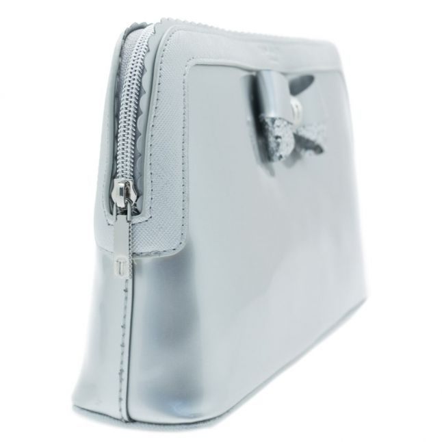 Womens Silver Ardith Scallop Edge Large Wash Bag