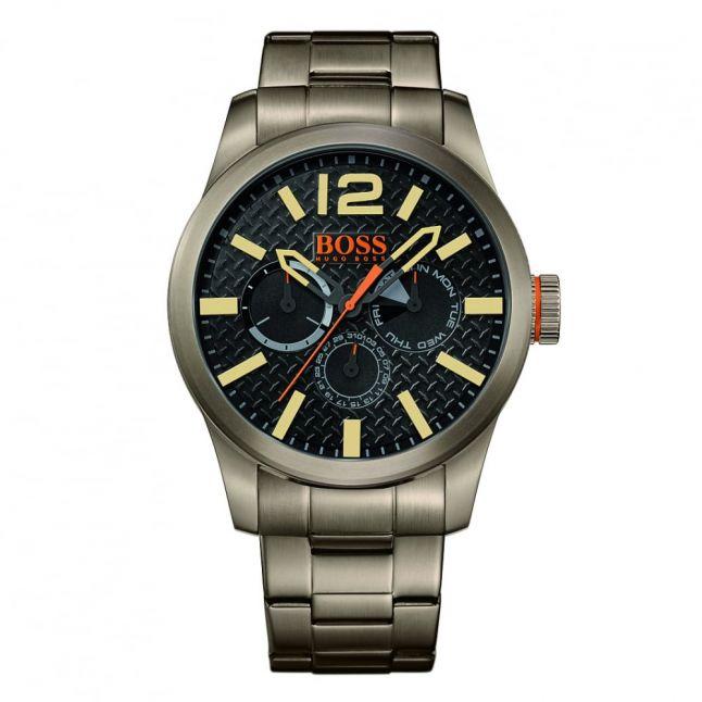 Watches Mens Grey Dial Paris Bracelet Strap Watch